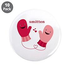 """""""Smitten"""" 3.5"""" Button (10 pack)"""