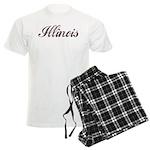 Vintage Illinois Men's Light Pajamas