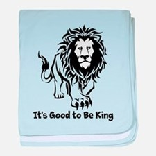 Good to Be King baby blanket