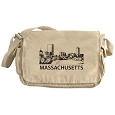 Massachusetts Skyline Messenger Bag