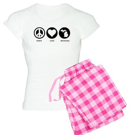 Peace Love Michigan Women's Light Pajamas