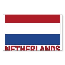Netherlands Flag Rectangle Decal