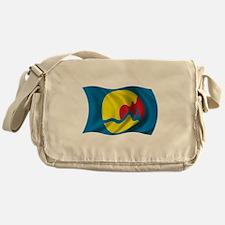 Wavy Grand Rapids Flag Messenger Bag