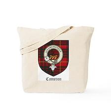 Cameron Clan Crest Tartan Tote Bag