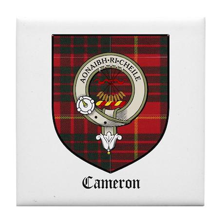 Cameron Clan Crest Tartan Tile Coaster