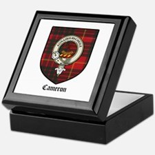 Cameron Clan Crest Tartan Keepsake Box