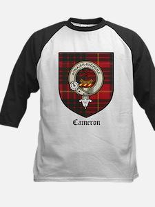 Cameron Clan Crest Tartan Kids Baseball Jersey