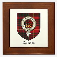 Cameron Clan Crest Tartan Framed Tile