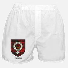 Cameron Clan Crest Tartan Boxer Shorts