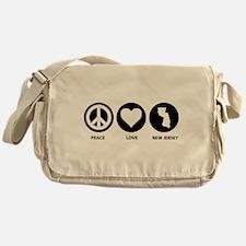 Peace Love New Jersey Messenger Bag
