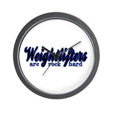 Weightlifters Are Rock Hard Wall Clock