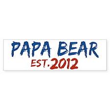 New Papa Bear 2012 Bumper Sticker