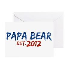 New Papa Bear 2012 Greeting Card