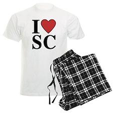 I Love South Carolina pajamas
