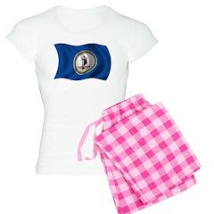 Wavy Virginia Flag Pajamas