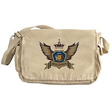 Wisconsin Emblem Messenger Bag