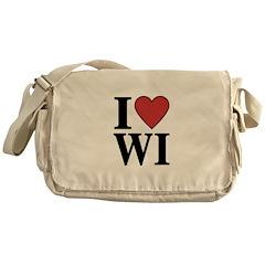 I Love Wisconsin Messenger Bag