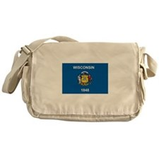 Wisconsin Flag Messenger Bag