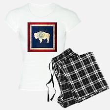 Grunge Wyoming Flag Pajamas