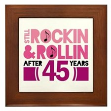 45th Anniversary Funny Gift Framed Tile