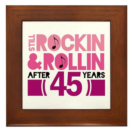 45th Anniversary Funny Gift Framed Tile