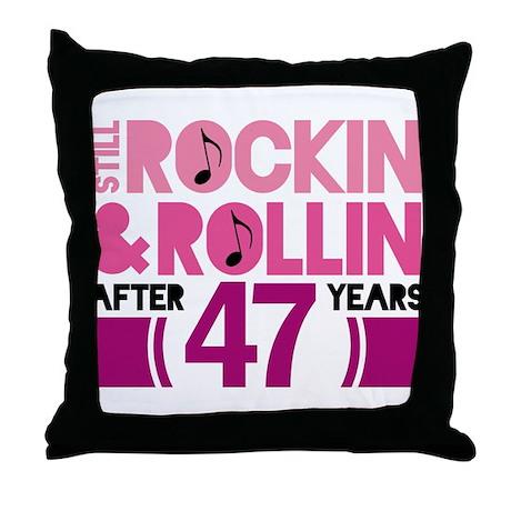 47th Anniversary Funny Gift Mug Throw Pillow