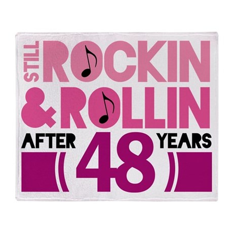 48th Anniversary Funny Gift Throw Blanket
