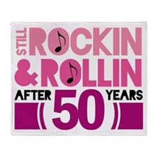 50th Anniversary Funny Gift Throw Blanket