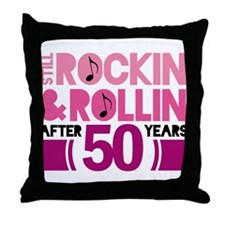 50th Anniversary Funny Gift Throw Pillow