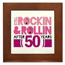 50th Anniversary Funny Gift Framed Tile