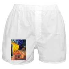 Cafe & Red Abyssinian (S) Boxer Shorts