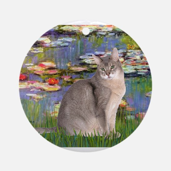 Lilies #2 / Blue Abyssinian c Ornament (Round)