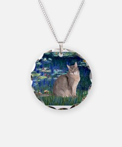 Lilies #5/Blue Abyssinian cat Necklace