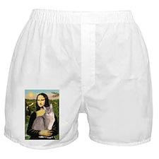 Mona & her Blue Abbyssinian Boxer Shorts