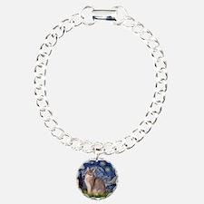 Starry / Blue Abbysinian cat Bracelet