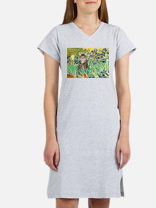 Irises / Tiger Cat Women's Nightshirt