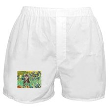 Irises / Tiger Cat Boxer Shorts