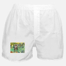 Irises / Tiger Cat Boxer Shorts