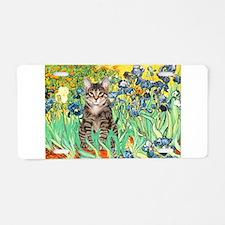Irises / Tiger Cat Aluminum License Plate