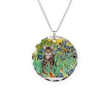 Irises / Tiger Cat Necklace
