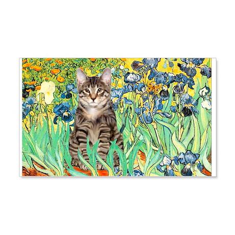 Irises / Tiger Cat 22x14 Wall Peel