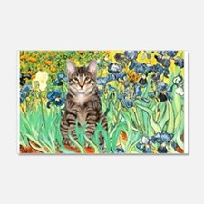 Irises / Tiger Cat 22x14 Wall Peel