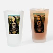 Mona's Tiger Cat Drinking Glass