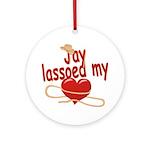 Jay Lassoed My Heart Ornament (Round)