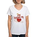 Jay Lassoed My Heart Women's V-Neck T-Shirt