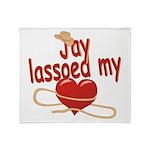 Jay Lassoed My Heart Throw Blanket
