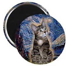Starry / Tiger Cat Magnet