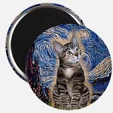 Starry / Tiger Cat Magnet