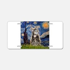Starry / Tiger Cat Aluminum License Plate