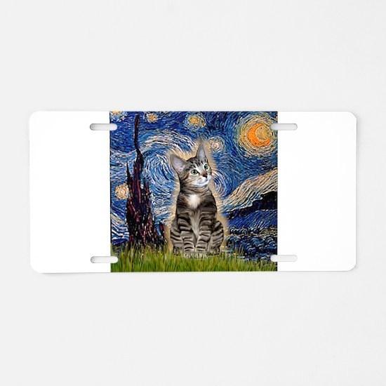 Starry / Tiger Cat Aluminum License Plate